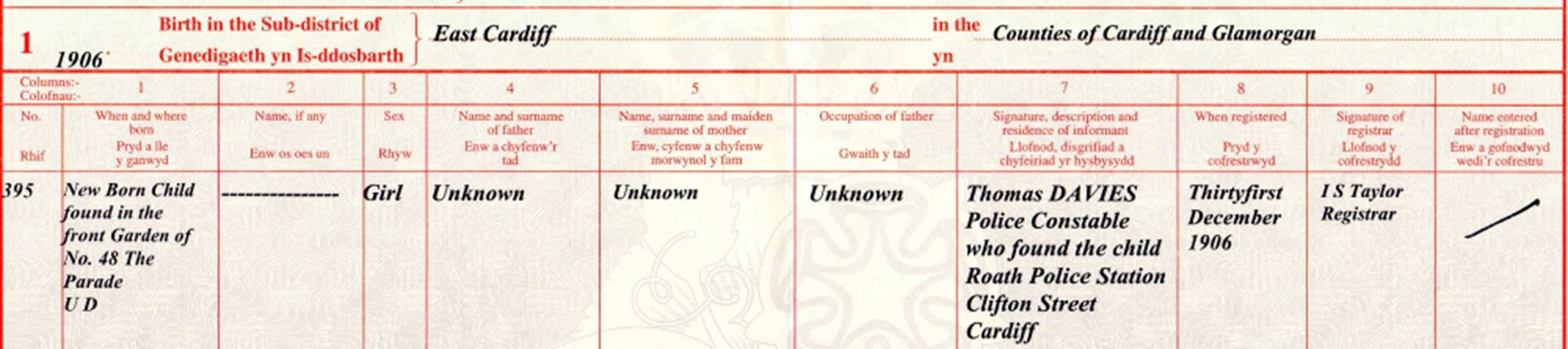 151116 lostcousins newsletter ann sent me this birth certificate for a foundling aiddatafo Choice Image